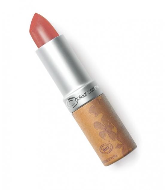 Rouge à lèvres nacré BIO N°224 Brun rouille – 3,5g – Couleur Caramel