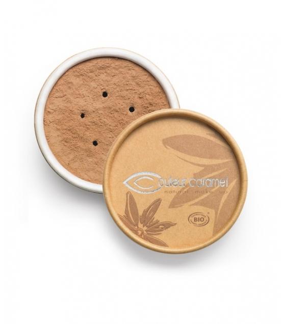 Fond de teint poudre BIO N°07 Brun halé – 6g – Couleur Caramel
