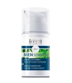 Crème hydratante homme BIO bambou & ginkgo – 30ml – Lavera Men Sensitiv