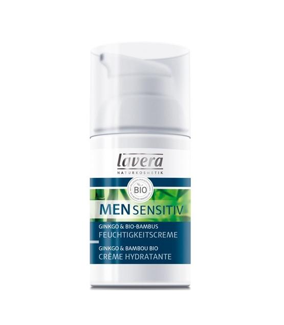 Crème hydratante homme BIO bambou & ginkgo - 30ml - Lavera Men Sensitiv