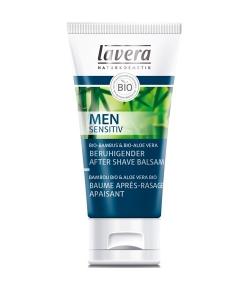 Beruhigender BIO-After Shave Balsam Bambus & Aloe Vera für Männer – 50ml – Lavera Men Sensitiv
