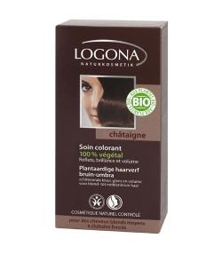 BIO-Pflanzen-Haarfarbe Pulver 090 Braun-Umbra - 100g - Logona