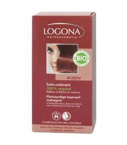 Poudre colorante végétale BIO 050 acajou - 100g - Logona