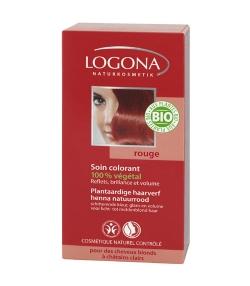 BIO-Pflanzen-Haarfarbe Pulver 030 Henna Naturrot - 100g - Logona