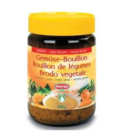 Bouillon de légumes sans levure & sans corps gras BIO – 200g – Morga
