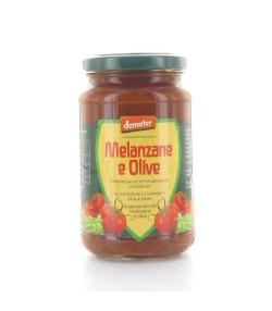 BIO-Tomatensauce mit Auberginen & Oliven – 340g – Vanadis