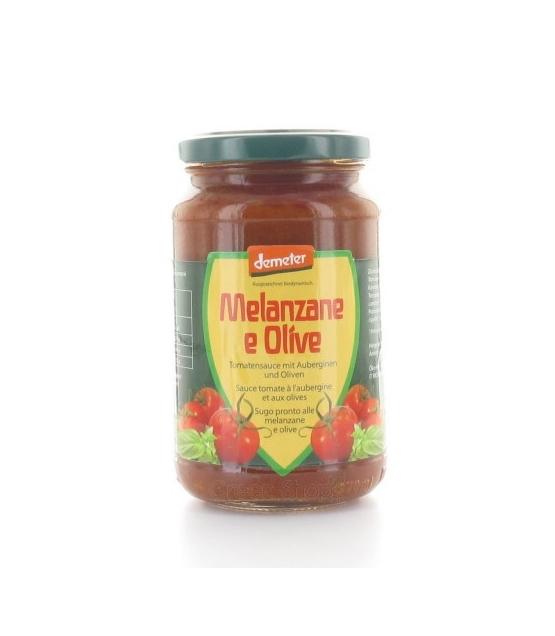 BIO-Tomatensauce mit Auberginen & Oliven - 340g - Vanadis