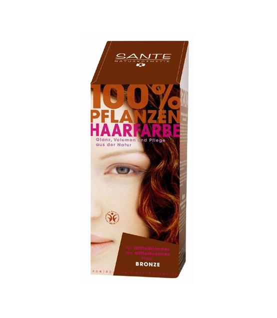 BIO-Pflanzen-Haarfarbe Pulver Bronze - 100g - Sante
