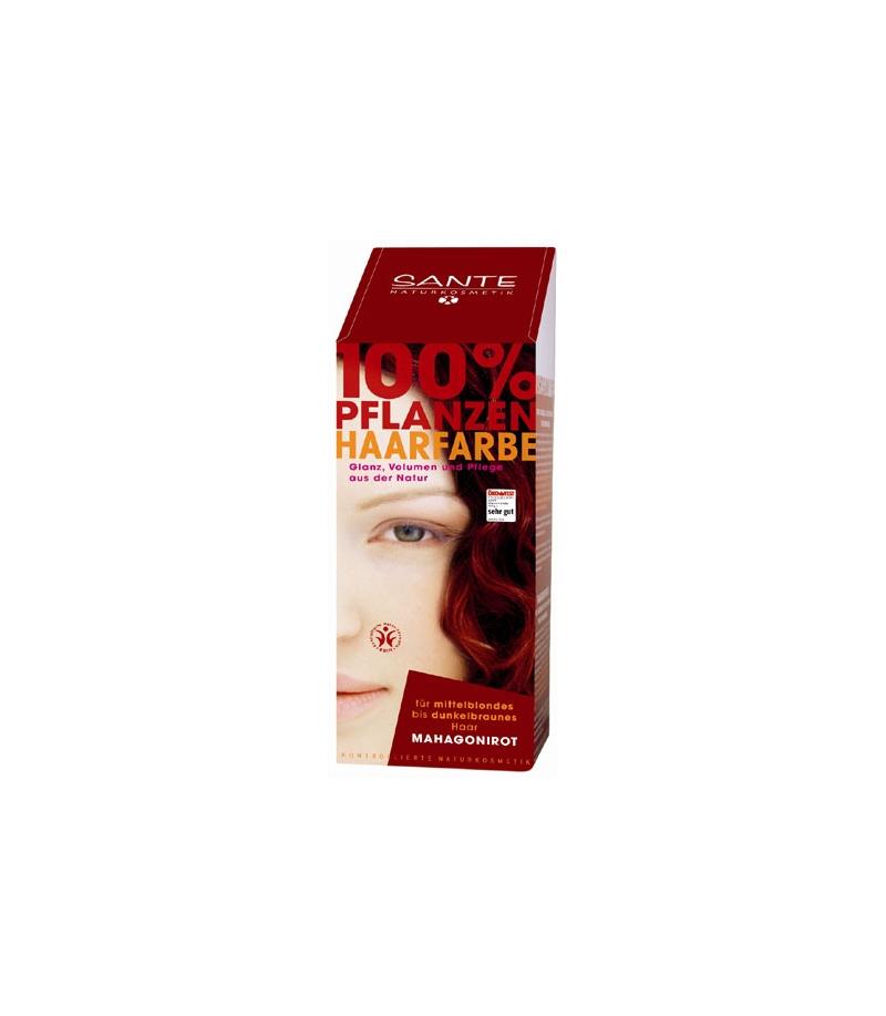 BIO-Pflanzen-Haarfarbe Pulver Mahagonirot - 100g - Sante