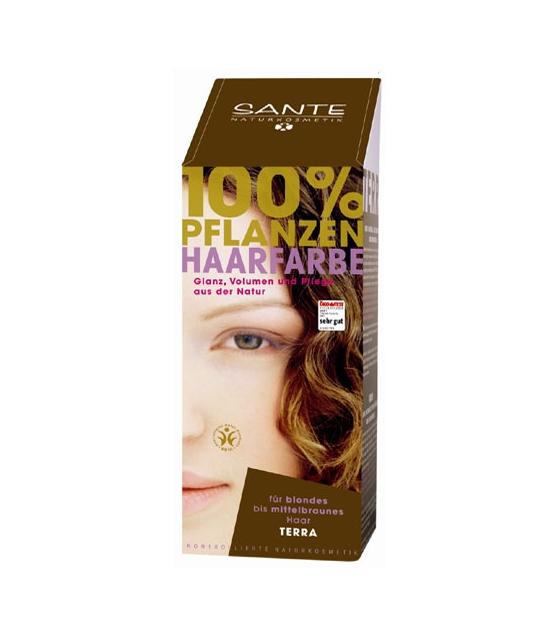 BIO-Pflanzen-Haarfarbe Pulver Terra - 100g - Sante
