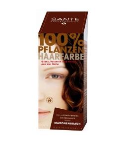 BIO-Pflanzen-Haarfarbe Pulver Braun - 100g - Sante