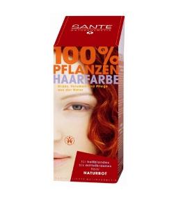 BIO-Pflanzen-Haarfarbe Pulver Naturrot - 100g - Sante