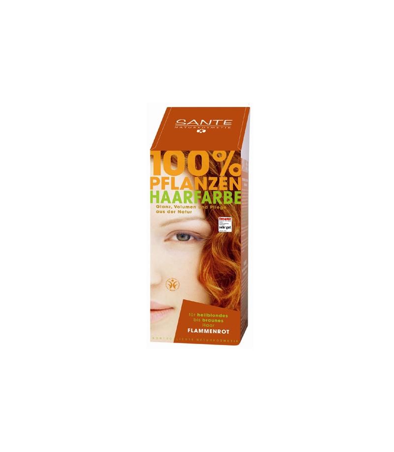 BIO-Pflanzen-Haarfarbe Pulver Flammenrot - 100g - Sante