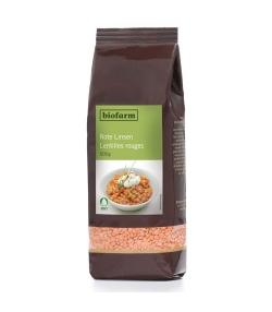 Lentilles rouges BIO – 500g – Biofarm