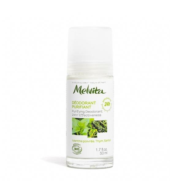 Déodorant à bille purifiant BIO menthe, thym & santal - 50ml - Melvita