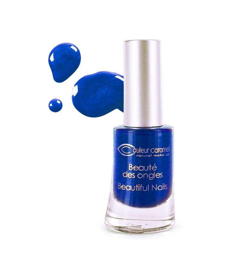 vernis ongles nacr n 58 bleu nuit 8ml couleur caramel. Black Bedroom Furniture Sets. Home Design Ideas