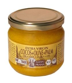 Huile de noix de coco avec huile d'olive et huile de palme rouge BIO – 325ml – Aman Prana