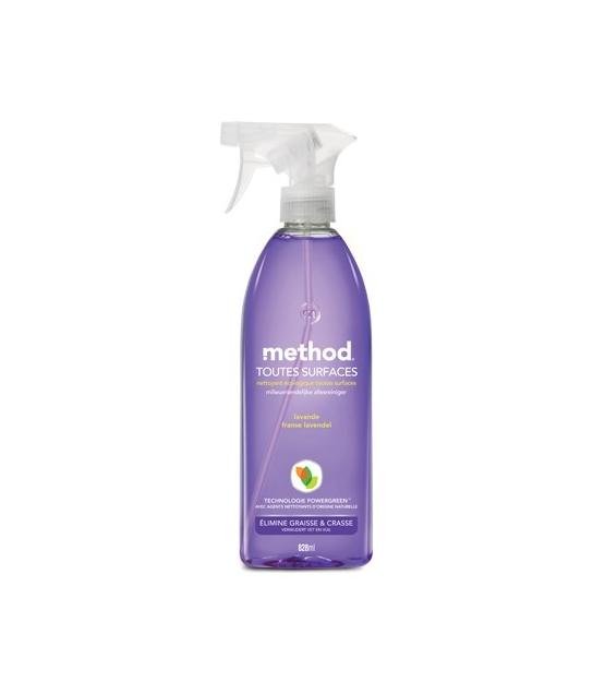 Nettoyant multi-usages spray écologique lavande – 828ml – Method