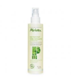 Gelée nettoyante purifiante BIO menthe poivrée & sève de bouleau peau mixte & grasse – 200ml – Melvita Nectar Pur