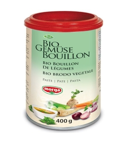 Bouillon de légumes en pâte BIO – 400g – Morga