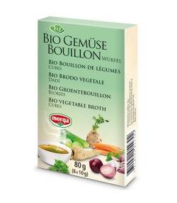 Bouillon de légumes en cubes BIO – 8 cubes – Morga