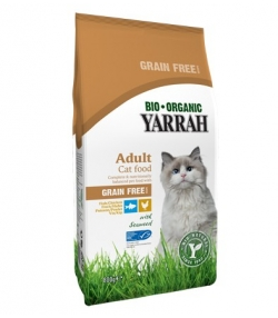 Croquettes BIO poulet & poisson sans céréales pour chat – 800g – Yarrah