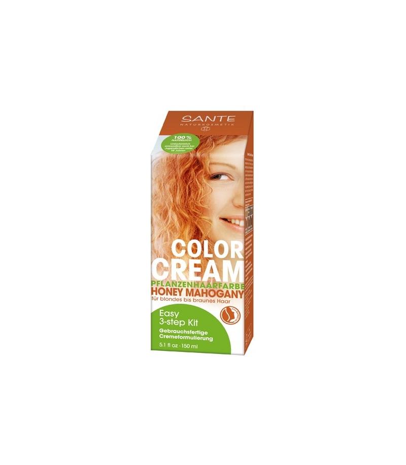 BIO-Pflanzen-Haarfarbe Creme Honey Mahogany u2013 150ml u2013 Sante