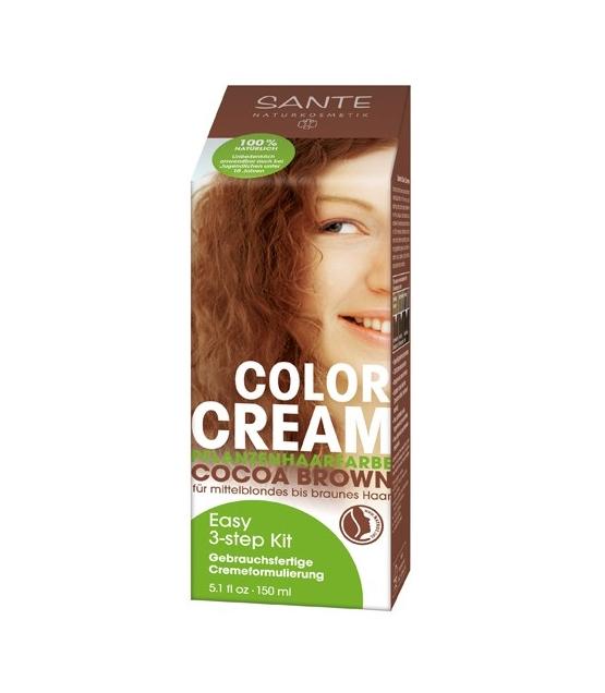 BIO-Pflanzen-Haarfarbe Creme Cocoa Brown u2013 150ml u2013 Sante