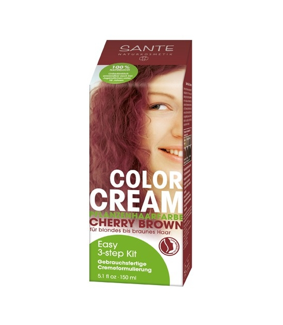 Crème colorante végétale BIO cherry brown - 150ml - Sante