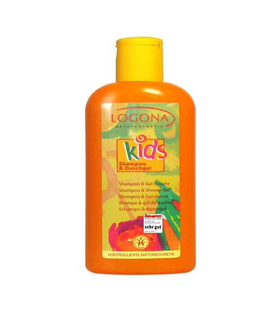 Shampooing & gel douche enfant BIO fruits - 200ml - Logona Kids