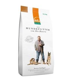 Croquettes BIO volaille pour chien senior – Senior – 12,5kg – Defu