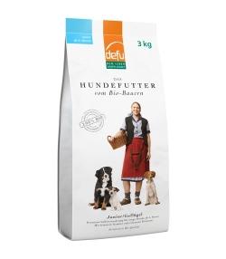 Croquettes BIO volaille pour jeune chien – Junior – 3kg – Defu