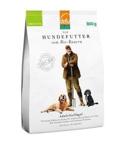 Croquettes BIO volaille pour chien adulte – Adulte – 800g – Defu