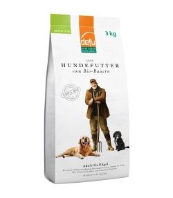Croquettes BIO volaille pour chien adulte – Adulte – 3kg – Defu