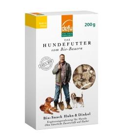 Biscuits BIO poulet & épeautre pour chien – 200g – Defu