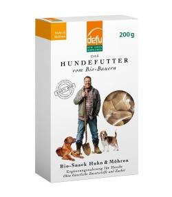 BIO-Snack Huhn & Möhren für Hunde – 200g – Defu