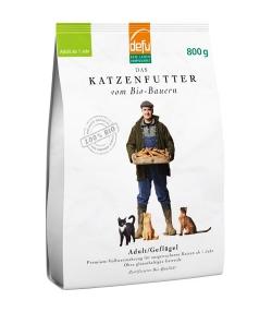 BIO-Trockenfutter Geflügel für ausgewachsene Katze – Adult – 800g – Defu