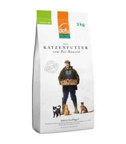 BIO-Trockenfutter Geflügel für ausgewachsene Katzen – Adult – 3kg – Defu