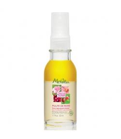 Duo repulpant éclat BIO eau florale & huile de rose – 50ml – Melvita Pulpe de Rose