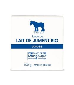 Savon au lait de jument BIO lavande – 100g – Chevalait
