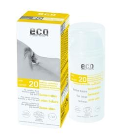 Lotion solaire visage & corps BIO IP 20 grenade & baies de goji – 100ml – Eco Cosmetics