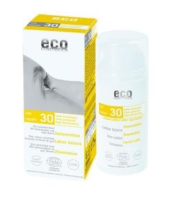 Lotion solaire visage & corps BIO IP 30 grenade & baies de goji – 100ml – Eco Cosmetics