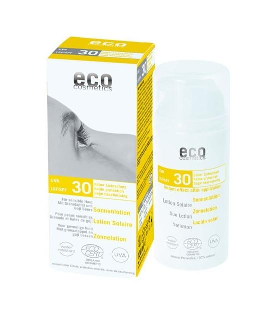 Lotion solaire visage & corps BIO IP 30 grenade & baies de goji - 100ml - Eco Cosmetics