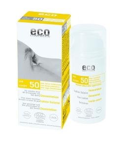 Lotion solaire visage & corps BIO IP 50 grenade & baies de goji – 100ml – Eco Cosmetics