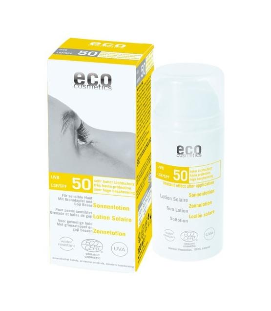 BIO-Sonnenlotion Gesicht & Körper LSF 50 Granatapfel & Goji Beere - 100ml - Eco Cosmetics