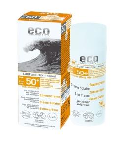 Crème solaire teintée visage & corps Surf and Fun BIO IP 50 grenade & macadamia – 50ml – Eco Cosmetics