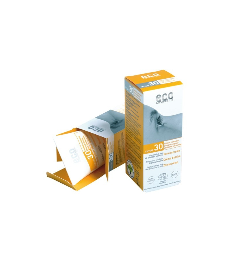 cr me solaire visage corps bio ip 30 argousier 75ml eco cosmetics. Black Bedroom Furniture Sets. Home Design Ideas