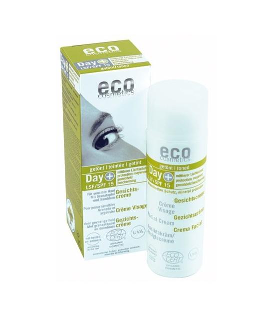 cr me solaire visage teint e bio ip 15 grenade 50ml eco cosmetics. Black Bedroom Furniture Sets. Home Design Ideas