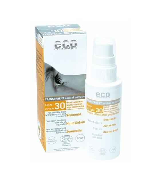 Huile solaire visage & corps BIO IP 30 grenade - 50ml - Eco Cosmetics