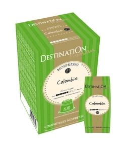 Capsules café Biospresso N°21 Colombie BIO – 10x5,5g – Destination